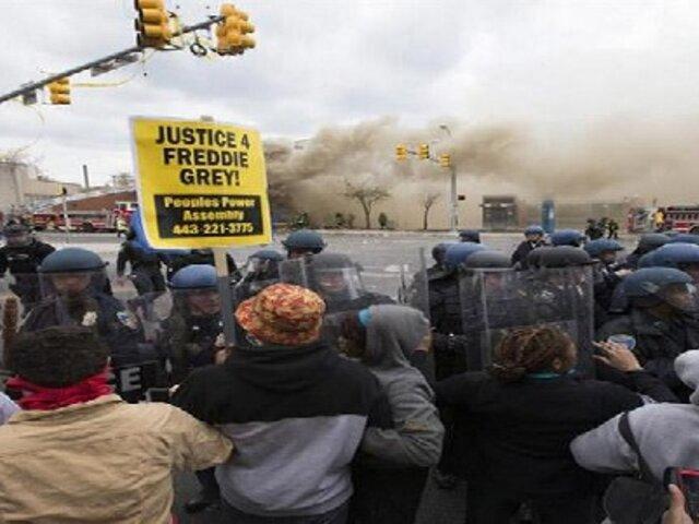 Estados Unidos: declaran estado de emergencia en Baltimore por violentas protestas