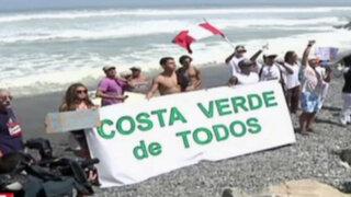 Deportistas, veraneantes y tablistas marcharon por Costa Verde