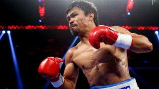 Manny Pacquiao listo para disputar revancha con Floyd Mayweather