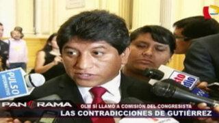 Las contradicciones de Josué Gutiérrez: OLM sí llamó a la comisión del congresista