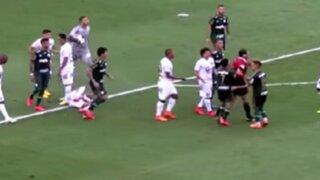 VIDEO: jugador brasileño agrede a árbitro tras ser expulsado