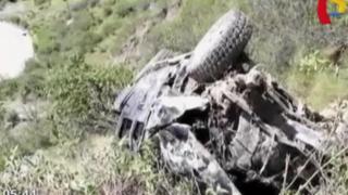 Áncash: autoridad municipal fallece al caer camioneta a abismo