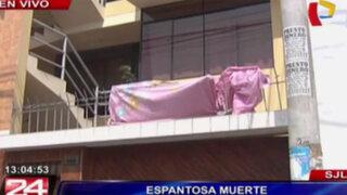 SJL: mujer muere tras caer del cuarto piso sobre una reja con púas