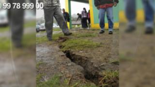 WhatsApp: enormes grietas aterrorizan a la población de Socosbamba