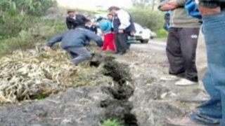 Áncash: alerta por enormes grietas en distrito de Piscobamba