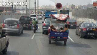 WhatsApp: niños viajan en tolva de mototaxi en la vía Evitamiento