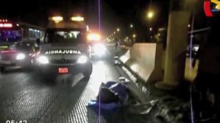 Ate: madre de familia falleció tras ser arrollada por auto en Carretera Central
