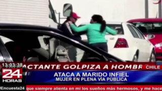 Impactantes imágenes: mujer masacra a marido infiel en plena calle
