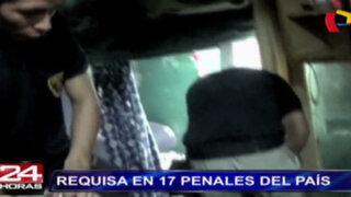 Inpe realiza requisa en 17 penales del país