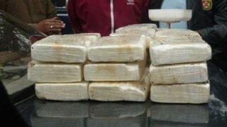 Policía interviene camión que transportaba 90 kilos de droga en San Luis
