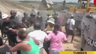 Violento desalojo: invasores intentan tomar terreno del Gobierno Regional de Tumbes