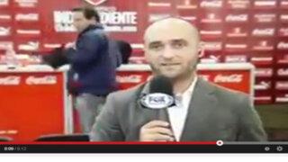 VIDEO : Hincha de Independiente roba tablet en plena transmisión de TV