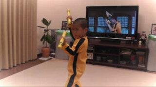 VIDEO: niño japonés de 5 años es la reencarnación de Bruce Lee
