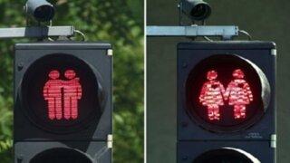 Viena ilumina sus semáforos con figuras de parejas del mismo sexo