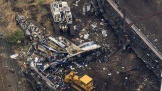 EEUU: se eleva a siete el número de muertos por descarrilamiento de tren