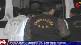 Punta Negra: pasajero muere al enfrentarse con asaltantes en colectivo