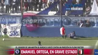 VIDEO: futbolista argentino muere tras chocar contra muro durante un partido
