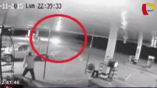 Piura: cámaras de seguridad registraron intento de asalto a un grifo