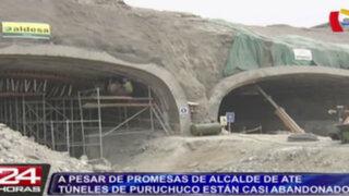 A pesar de promesas de alcalde de Ate, túneles de Puruchuco están casi abandonados