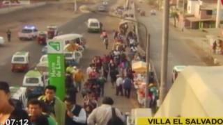Caos en estación del Metro de Lima: usuarios forman largas colas en Villa El Salvador