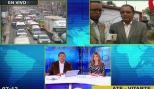 Congestión vehicular en la Carretera Central: cerrarán tramo por obras de Metro de Lima
