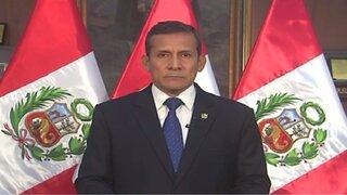 Presidente Humala envía mensaje a la Nación sobre protestas contra Tía María