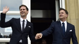 Primer ministro de Luxemburgo contrajo matrimonio con su novio belga