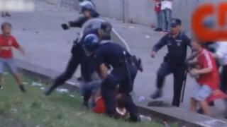 VIDEO:paliza policial a un hincha delante de su hijo conmueve a Portugal