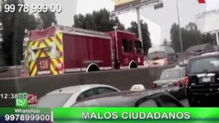 WhatsApp: conductores no ceden paso a bomberos que iban atender una emergencia