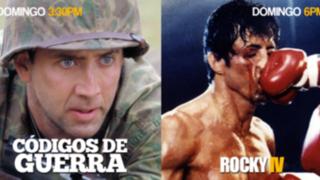 Nicolas Cage y Sylvester Stallone serán los protagonistas de tu tarde de domingo