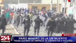 Marcona: un muerto y decenas de heridos deja protesta contra minera Shougang