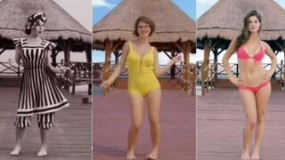 Video que muestra la evolución del bikini se vuelve viral en YouTube