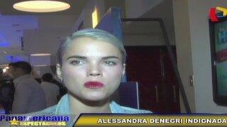 Alessandra Denegri indignada con filtración de fotos del desnudo de Andrés Wiese
