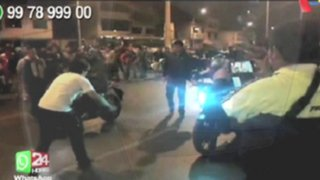 WhatsApp : sujetos realizan piques ilegales de motos en Los Olivos