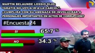 Encuesta 24: 65.7% cree que MBL involucrará a políticos en actos de corrupción