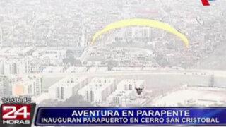 Rímac: realizan vuelos en parapente desde el cerro San Cristóbal