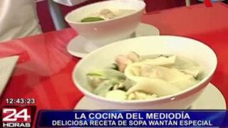 La cocina del mediodía presenta una sopa wantán especial para combatir el frío