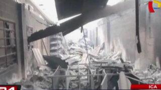 Ica: nuevas imágenes de los destrozos provocados en oficinas de minera Shougang