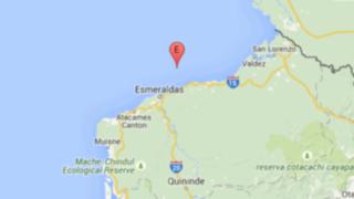 Sismo 5,3 grados de magnitud sacudió las costas de Ecuador