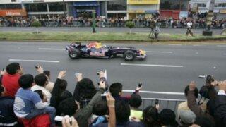 Cierran calles del Centro de Lima por exhibición Fórmula 1