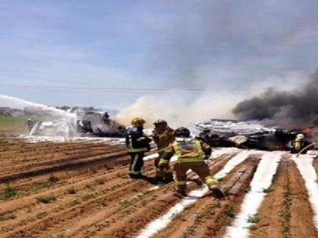Caída de avión militar deja al menos tres muertos en España