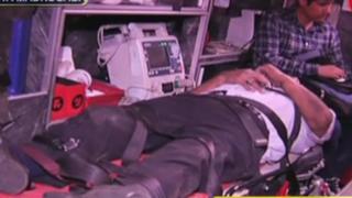 Accidente de tránsito deja tres heridos en Barrios Altos: conductor no habría respetado semáforo