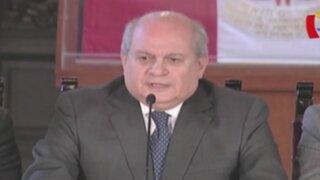 Pedro Cateriano dijo que hay 'tinte político' en denuncias contra Nadine Heredia