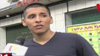 Joven agredido por dueño de chifa acusa a su atacante de intento de homicidio