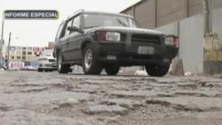 Vía crucis en Lima norte: pésimo estado de pistas afectan a conductores