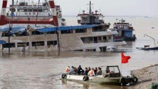 Asciende a 396 el número de muertos por naufragio de crucero en China