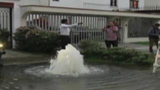 Aniego de grandes proporciones afectó viviendas en San Isidro