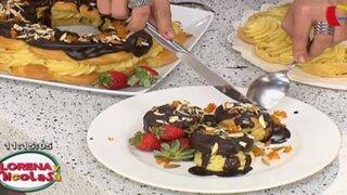 Prepara 'Profiteroles al chocolate' con una fácil receta de Lorena y Nicolasa