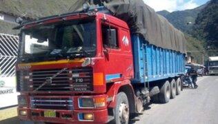 Huamachuco: intervienen 20 camiones con 30 toneladas de material aurífero ilegal