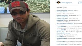 Enrique Iglesias publicó una fotografía tras su delicada operación